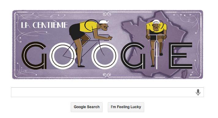 Google Doodle 100 años Tour de Francia