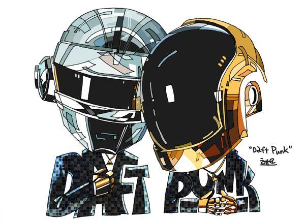 Ilustraciones de Daft Punk por Heyo Lee