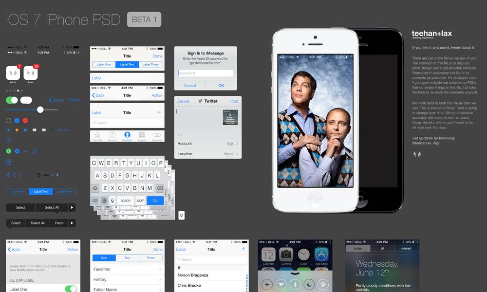 Archivo PSD gratis: Interface de usuario de iOS7