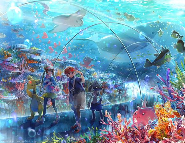 ilustraciones anime por namie kun acuario