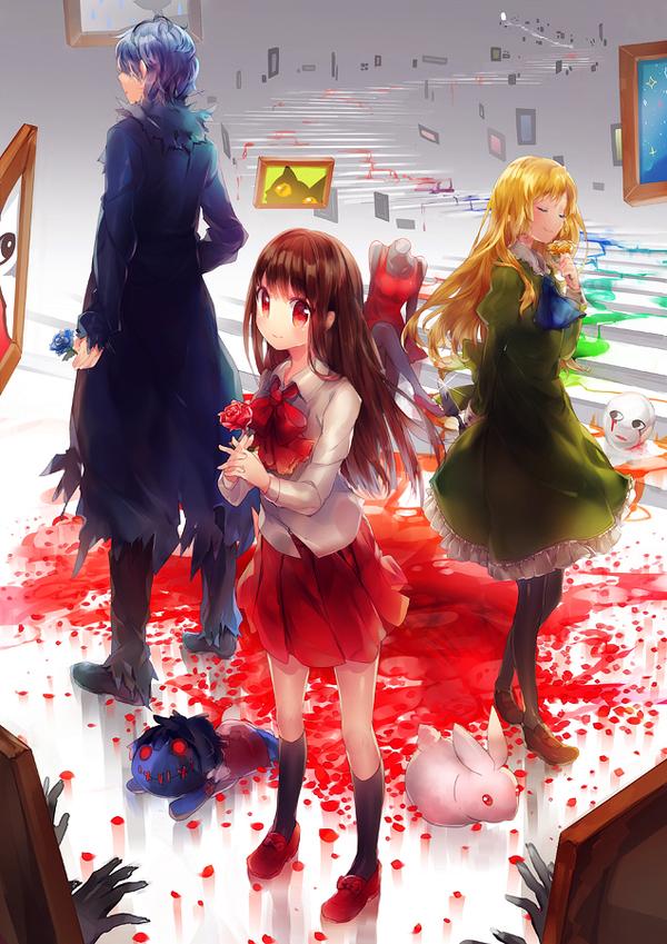 ilustraciones anime por namie kun escaleras