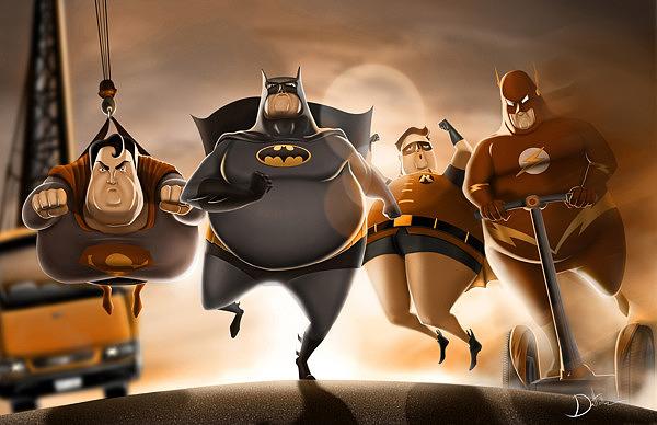 Resultado de imagen de superheroes gordos