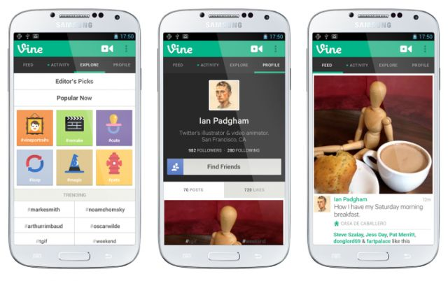 vine para android