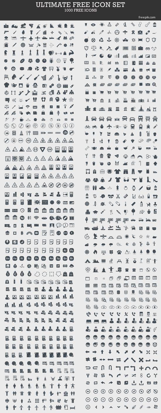 1000 iconos gratis