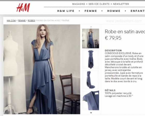 H&M Evening pagina web