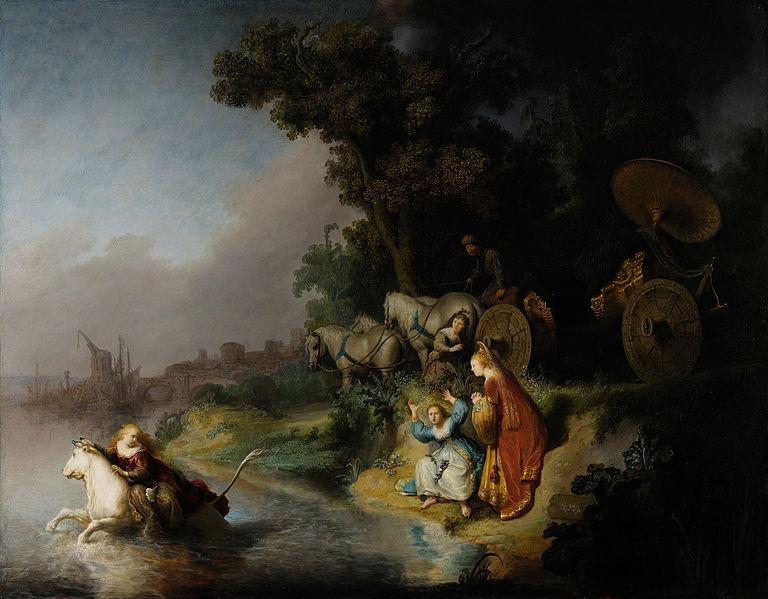 Rembrandt el rapto de europa