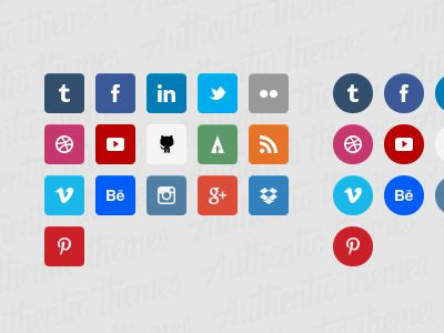 iconos estilo flat Por Authentic Themes