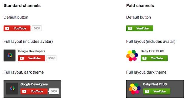 botones oficiales youtube