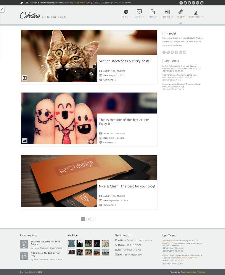 celestino plantilla wordpress portafolio diseño
