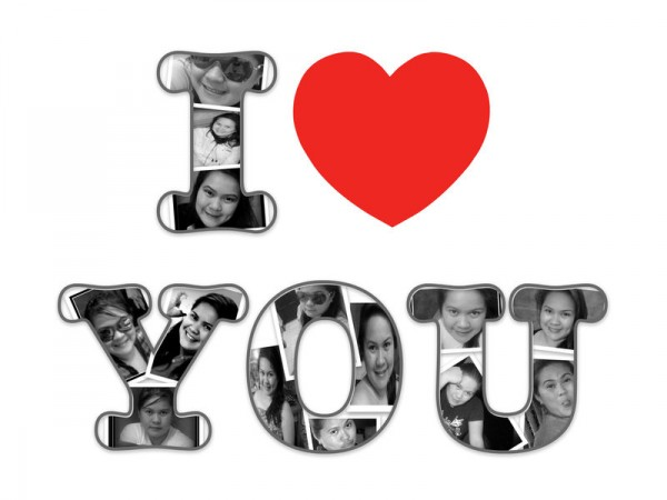 collage de fotos i love you