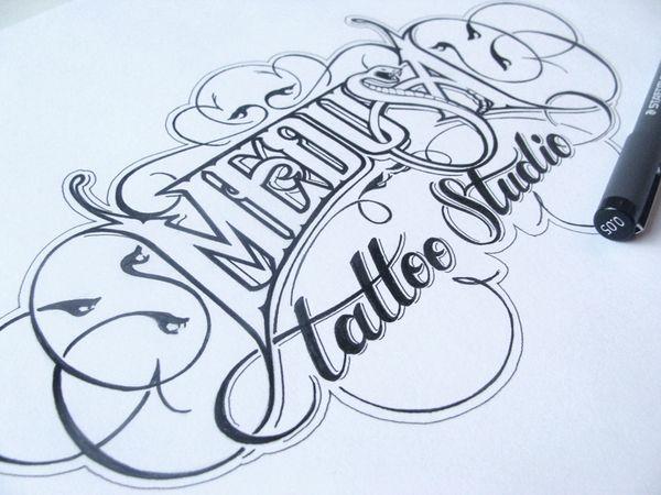 diseños a mano caligrafia 12