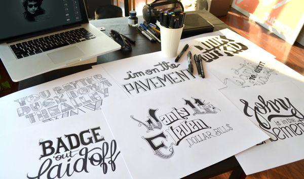 diseños tipográficos caligrafia 5