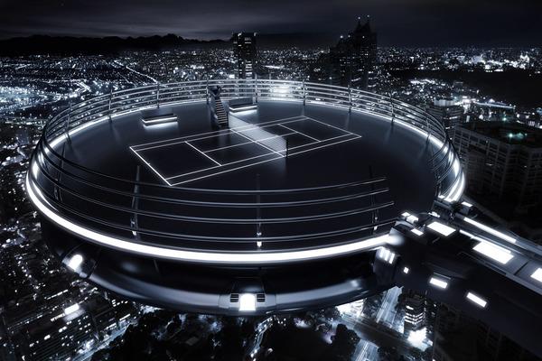 el futuro del deporte cancha tennis