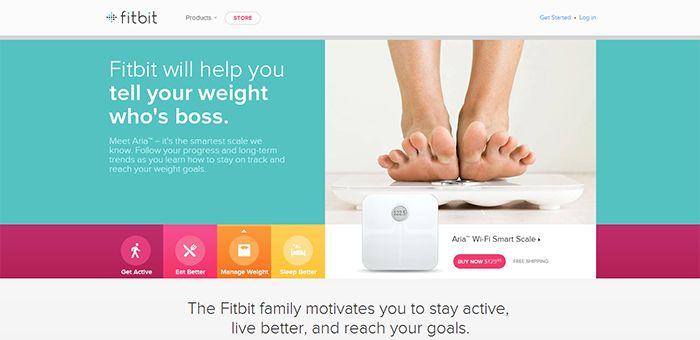 Inspiración Diseños web Fitbit