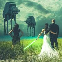 fotografia de boda estilo Star Wars