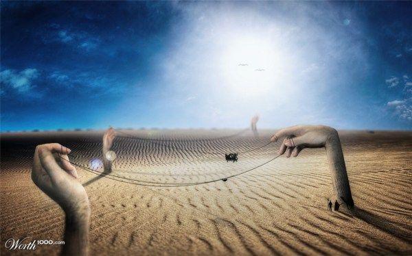 fotos manipuladas manos gigantes