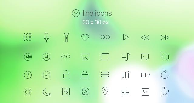 iconos minimalistas estilo iOS7