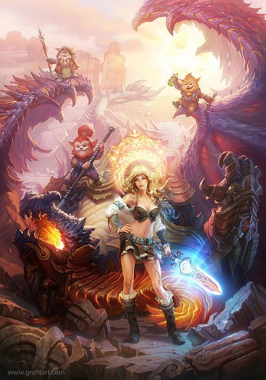 ilustraciones bella guerrera
