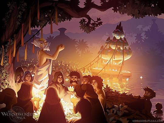 ilustraciones daniel lieske fiesta de noche