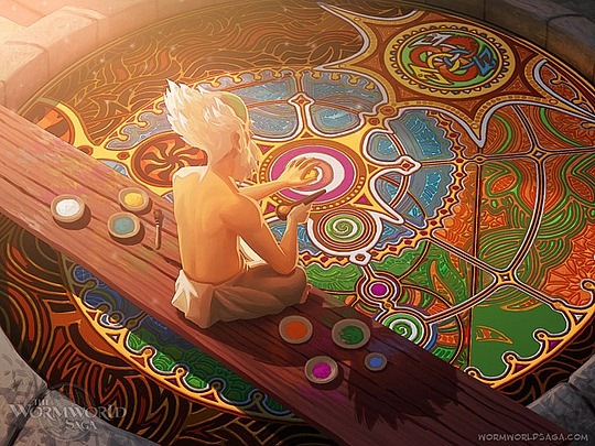 ilustraciones daniel lieske mago en templo