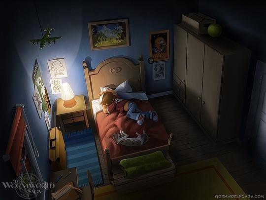 ilustraciones daniel lieske niño durmiendo