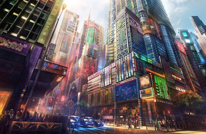 ilustraciones de escenarios hong kong