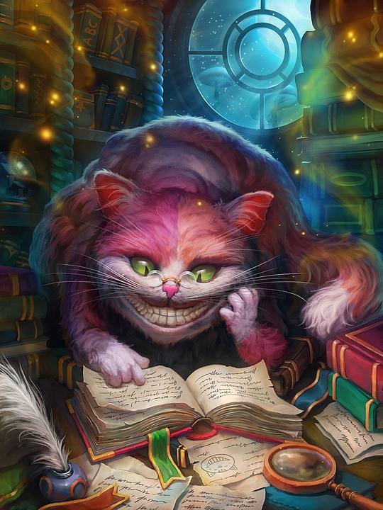 ilustraciones gato alicia pais de las maravillas