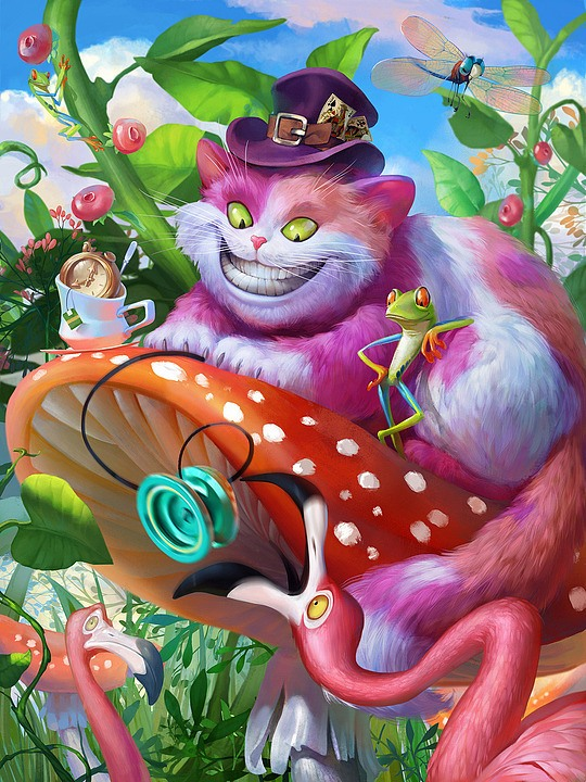 ilustraciones gato surreal