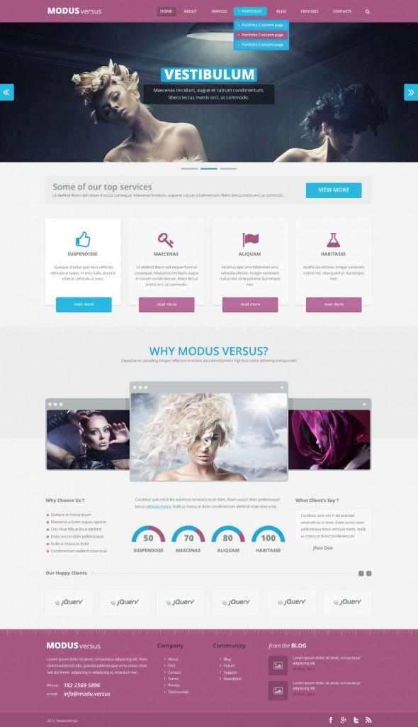 plantilla web psd gratis modus_versus_homepage_purple_blue
