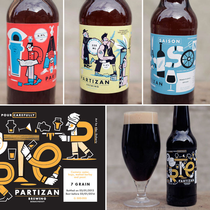 packaging cervezas Partizan Brewing