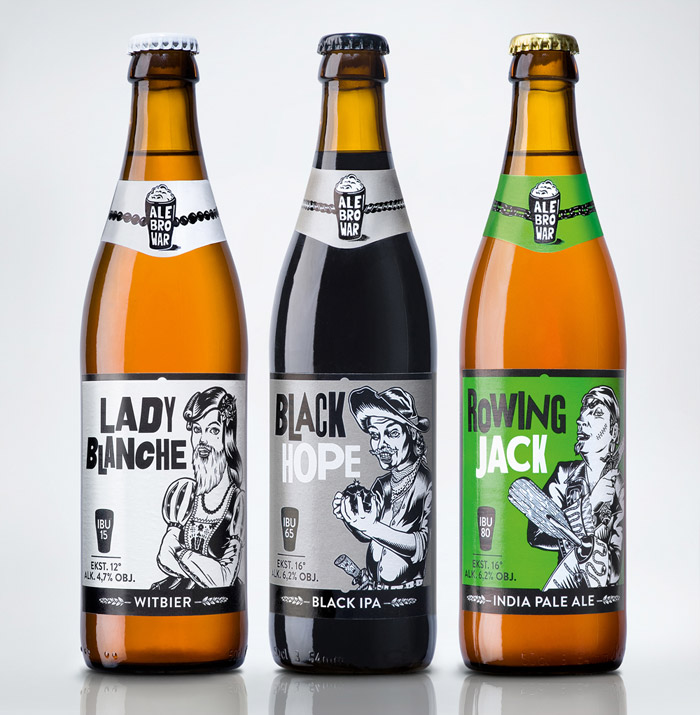 packaging cervezas ale brower beer