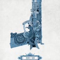 poster creativo pistola