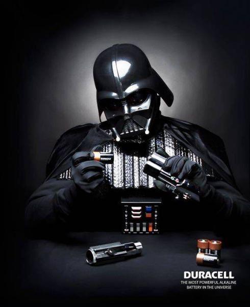 publicidad duracell darth vader