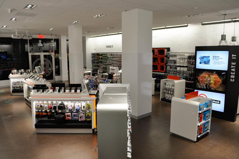 radioshack tienda interior