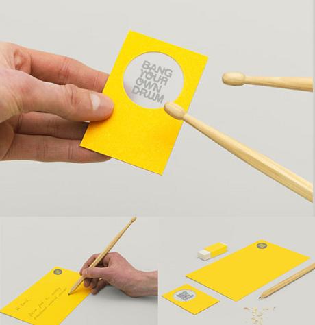 tarjetas de presentacion baterista