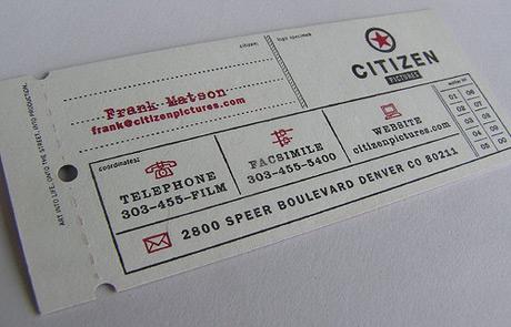 tarjetas de presentacion boleto concierto