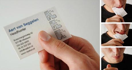 tarjetas de presentacion comestible