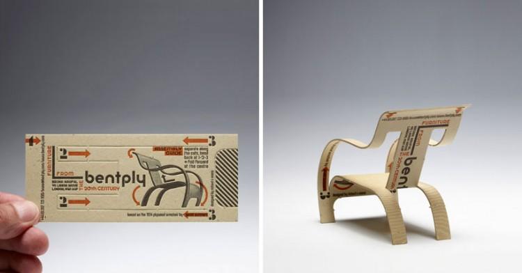 tarjetas de presentacion silla