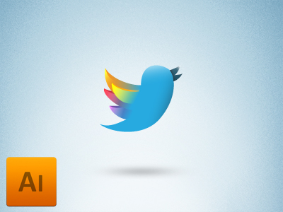 Vector logo de Twitter