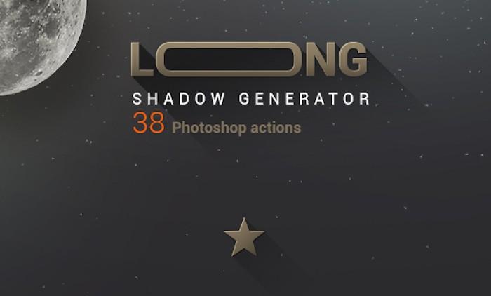 Acciones Photoshop para crear sombras largas