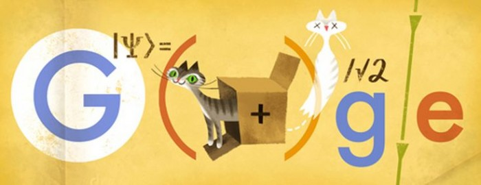 Doodle de Erwin Schrödinger