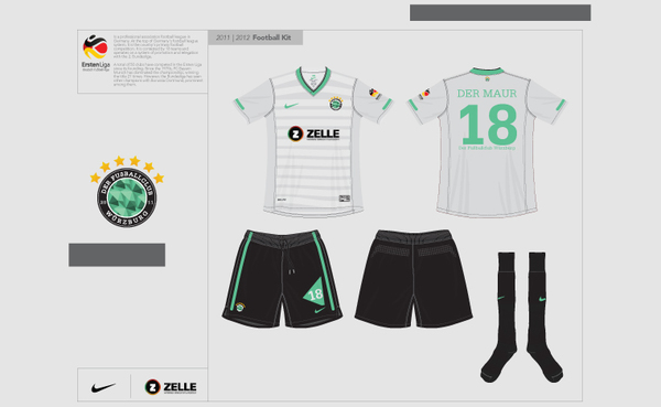 FC Wurzburg diseño uniforme
