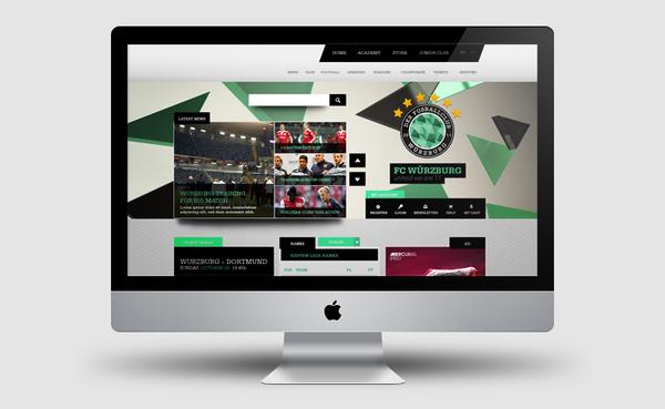 FC Wurzburg diseño web