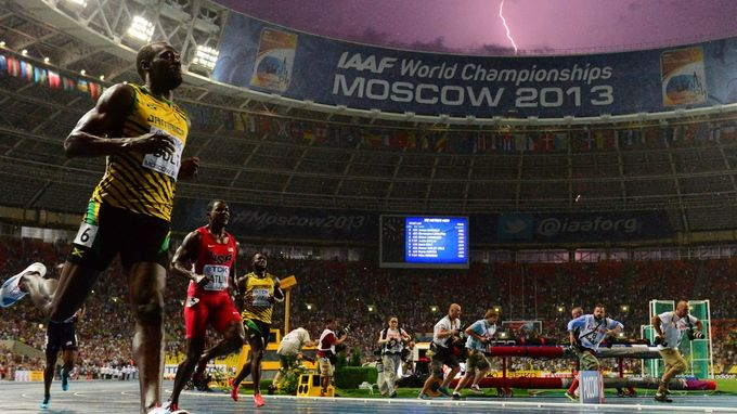 Fotografía de Usain Bolt por Olivier Morin