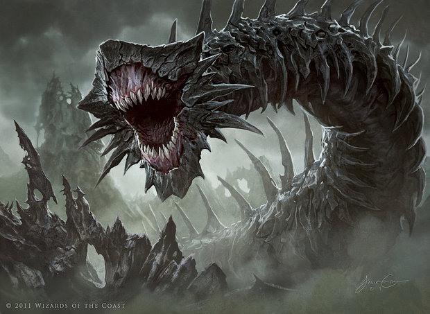 Ilustraciones moustruo gusano