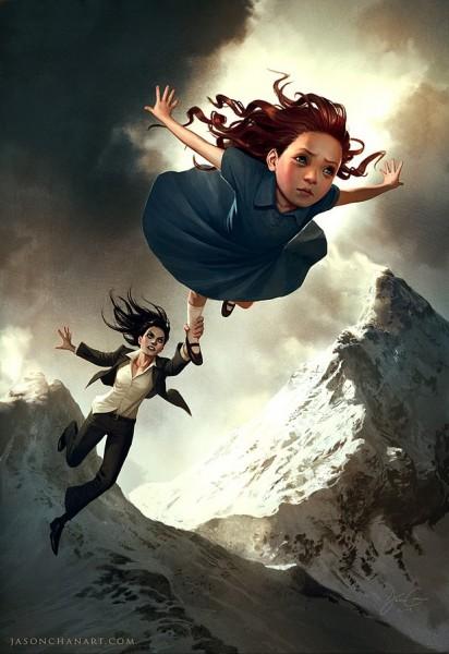 Ilustraciones niña volando