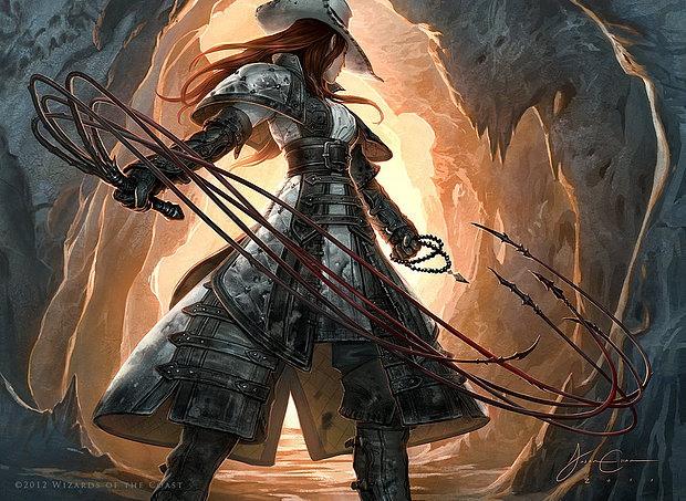 Ilustraciones pirata mujer con latigos