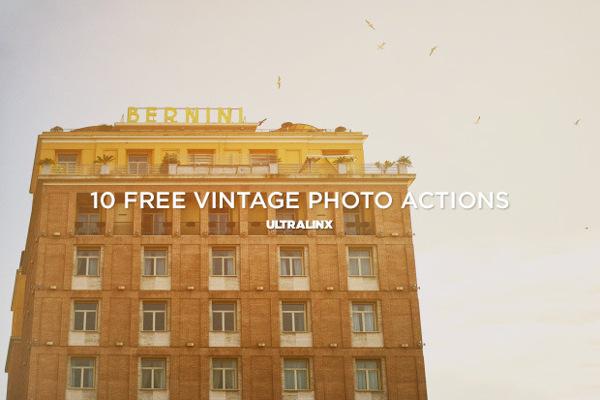 Acciones Photoshop: efectos Vintage para fotos
