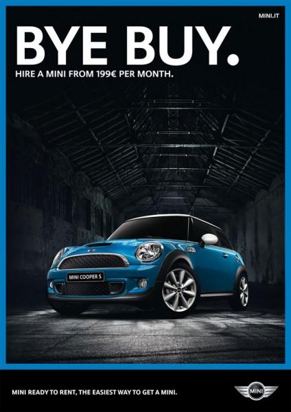 carteles de publicidad bmw mini