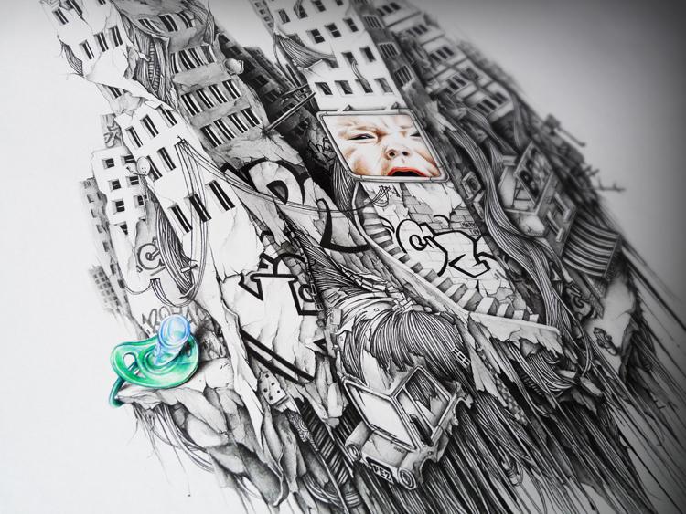 dibujos a lápiz edificios